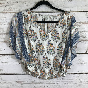 Lucky Brand Floral Crop Top